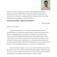 DEL CARPIO, F - Instrucción simultánea_ ¿llegaste para quedarte_.pdf
